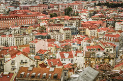 Lissabon vanaf Bovenkant royalty-vrije stock foto