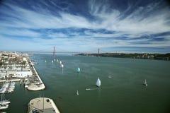 Lissabon vanaf de bovenkant Royalty-vrije Stock Afbeelding