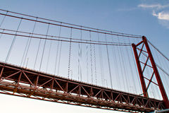 Lissabon, 25. von April-Brücke Lizenzfreie Stockfotos