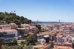 Lissabon wiew van de Onze Dame Hill Royalty-vrije Stock Foto's