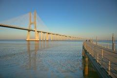 Lissabons Brücke Lizenzfreie Stockfotos