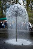 Lisse, Κάτω Χώρες - 17 Απριλίου: Οι κήποι τουλιπών Keukenhoff επάνω Στοκ εικόνες με δικαίωμα ελεύθερης χρήσης