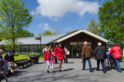 Lisse, The Netherlands - May 7, 2015: Tourists visit famous garden in Keukenhof Royalty Free Stock Photography