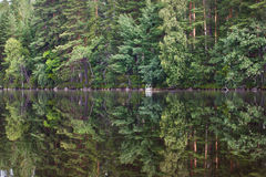 Lissez la surface du lac Photographie stock