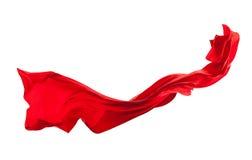 Lissez le satin rouge élégant d'isolement sur le fond blanc image libre de droits
