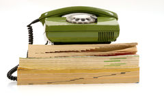 Listín de teléfonos imagen de archivo