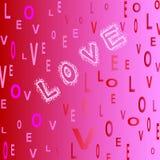 listów miłości menchii czerwony biel Obrazy Royalty Free