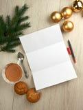 List Święty Mikołaj Obraz Stock