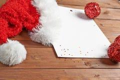 List Święty Mikołaj Obrazy Royalty Free