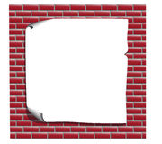 List for advertising red brick wall Stock Photo