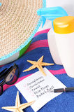 List For Beach Royalty Free Stock Photography