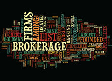 List Of Brokerage Firms Text Background Word Cloud Concept Stock Photo