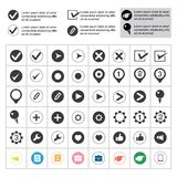 List buttons set Royalty Free Stock Image