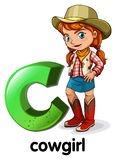List C dla cowgirl Zdjęcie Stock