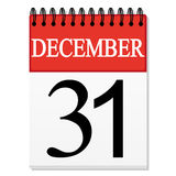 List Calendar December 31 Stock Photos