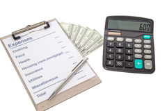 List of common expenses Stock Images