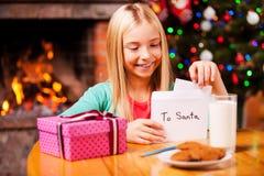 List d'envie à Santa Photos libres de droits