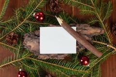 List d'envie de la Navidad o del Año Nuevo Fotos de archivo