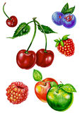 List_Fruits Stock Photo
