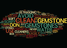 List Of Gemstones Text Background  Word Cloud Concept Stock Photos