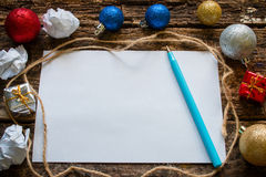 List of gifts for Christmas Stock Images