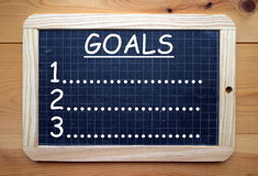 List of Goals Stock Photo