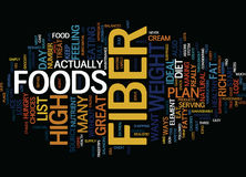 List Of High Fiber Foods Text Background Word Cloud Concept Royalty Free Stock Photos
