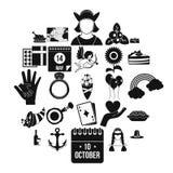 List ikony ustawiać, prosty styl royalty ilustracja