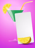List lemon cocktail Royalty Free Stock Image