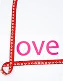 list miłość Zdjęcia Stock