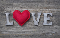 List miłość Fotografia Stock