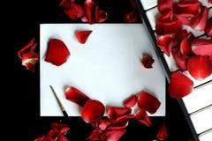list miłości Zdjęcia Royalty Free