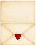 list miłości fotografia stock