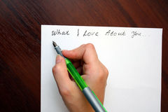 list miłości Zdjęcia Stock