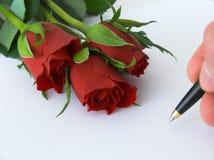 list miłości Obrazy Royalty Free