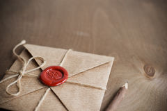 List Miłosny i ołówek obraz royalty free