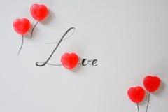 List miłosny od słodkiego cukierku Obrazy Stock