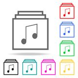 List of musical compositions icons. Elements of human web colored icons. Premium quality graphic design icon. Simple icon for webs. Ites, web design, mobile app Royalty Free Stock Photos