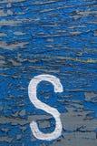 List na starej drewnianej teksturze Fotografia Stock