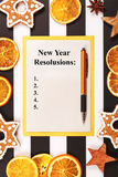 List of New Year goals. Stock Images