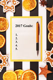 List of New Year resolutions. Stock Photo