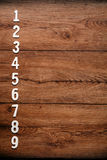 List of numbers Royalty Free Stock Photos