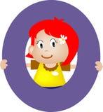 list o alfabetu dziewczyny Zdjęcia Stock