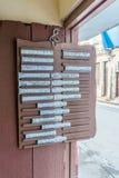 list od lokalnej restauraci wystawiał ulica w losie angeles Hawańskim Zdjęcie Stock