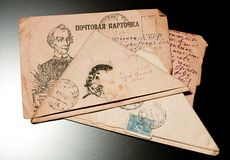 List od przodu podczas Drugi Wojna Światowa Obrazy Stock