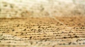 list odręczny stary Fotografia Royalty Free