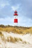 List-Ost lighthouse at Ellenbogen peninsula, Slyt Stock Photo