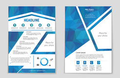 List, page, mockup brochure theme style, banner, idea, cover, booklet, document, print, flyer, book, blank, card. Abstract vector background for web and mobile Royalty Free Stock Photos