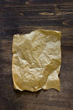 List of parchment paper on brown wooden board. Royalty Free Stock Images