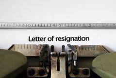 List rezygnacja Obraz Stock